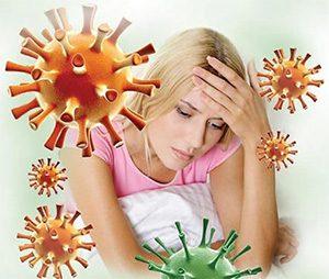 инфекция вокруг больной девушки
